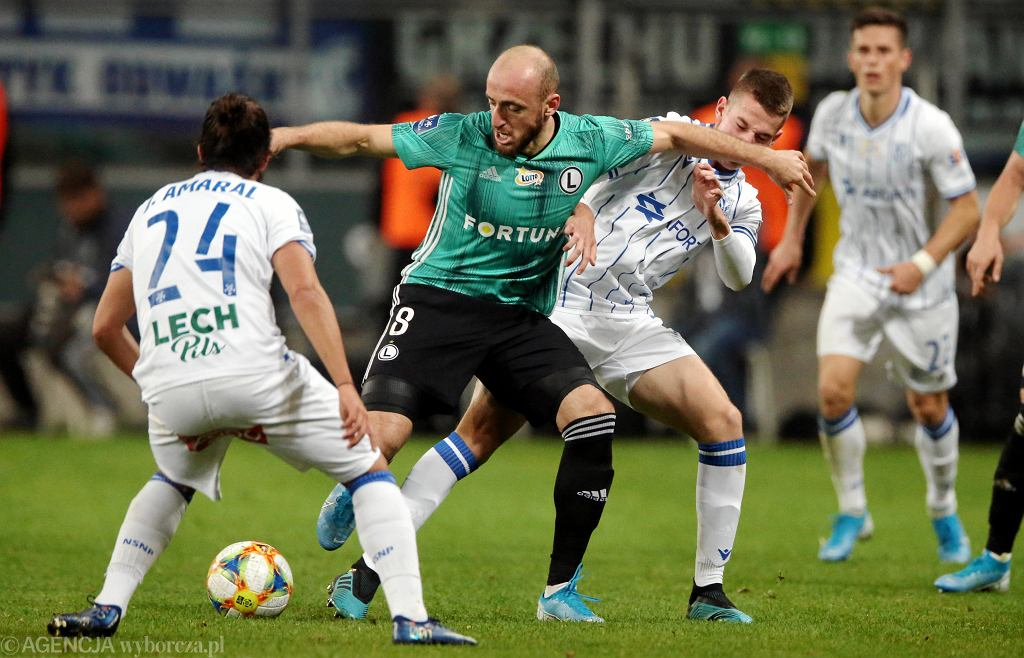Valerian Gvilia, Joao Amaral - Legia Warszawa vs. Lech Poznań
