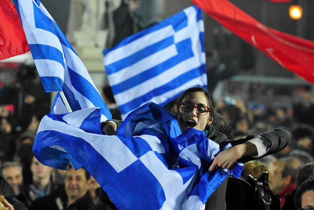 Radość zwolenników SYRIZY po wygranych wyborach parlamentarnych