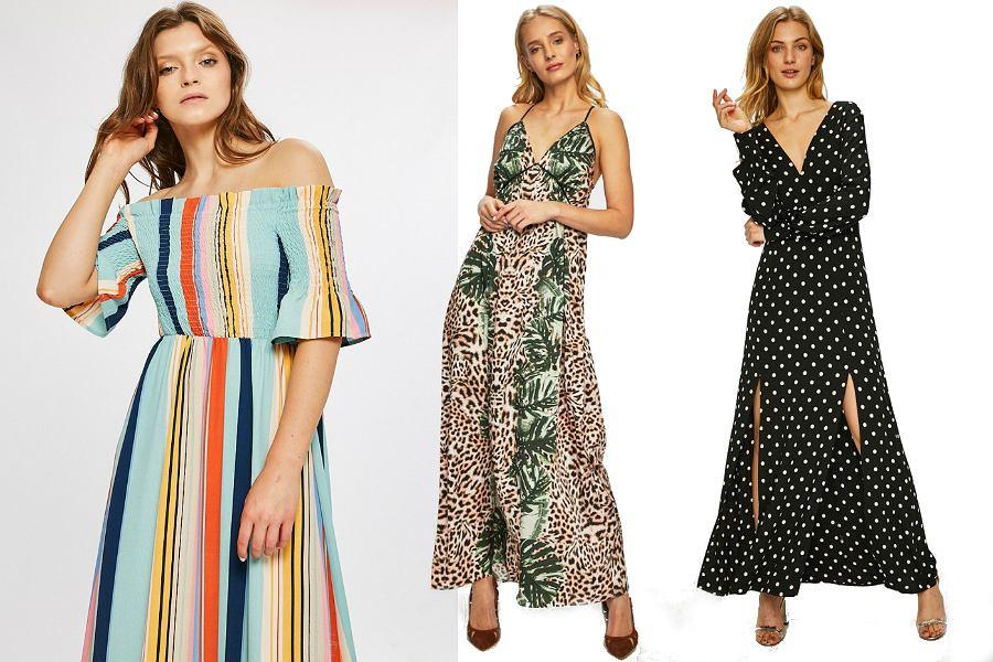 Wzorzyste sukienki maxi