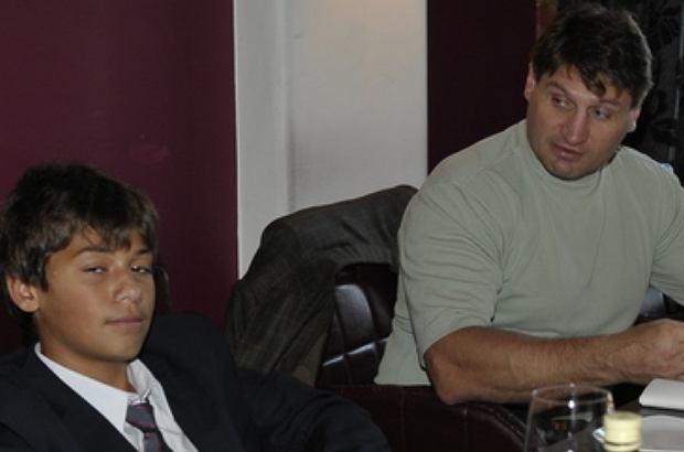 Andrej Gołota z synem
