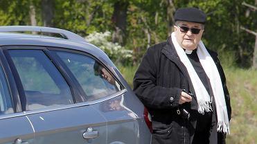 Tadeusz Rydzyk na terenie  tzw. ' miasteczka Rydzyka ', 14.05.2020
