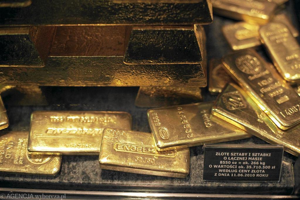 Złoto zdeponowane w skarbcu NBP