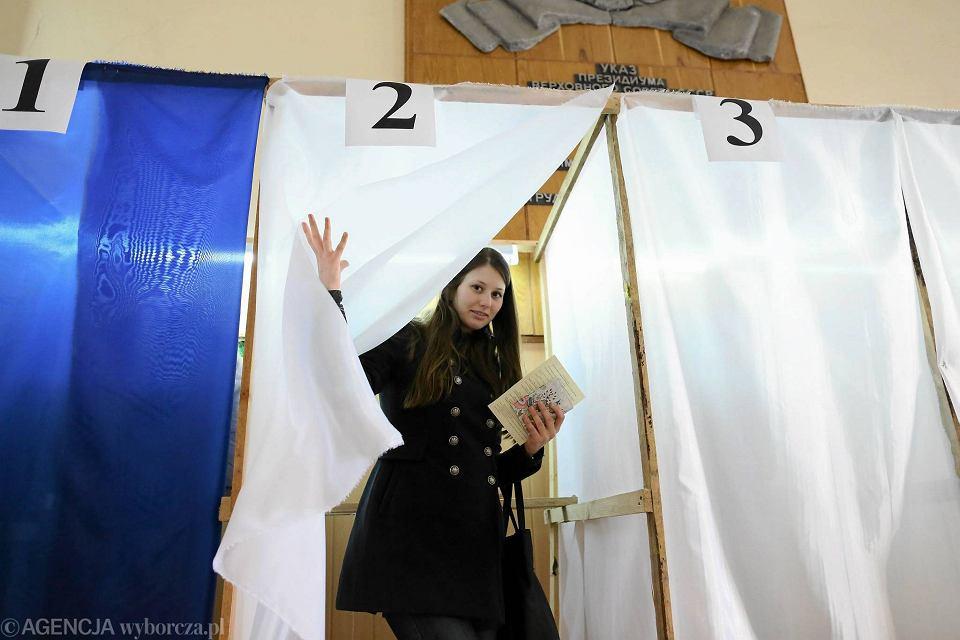 Jeden z lokali wyborczych - w Akademii Medycznej w Symferopolu.
