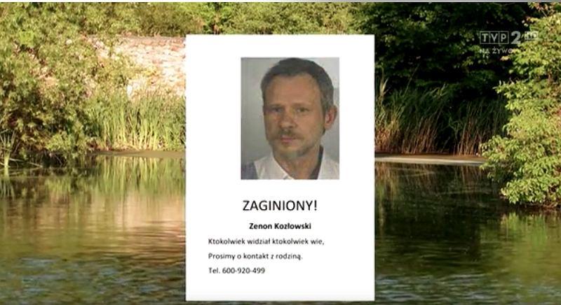 Zenon Kozłowski poszukiwany był również z pomocą programu 'Ekspres reporterów'