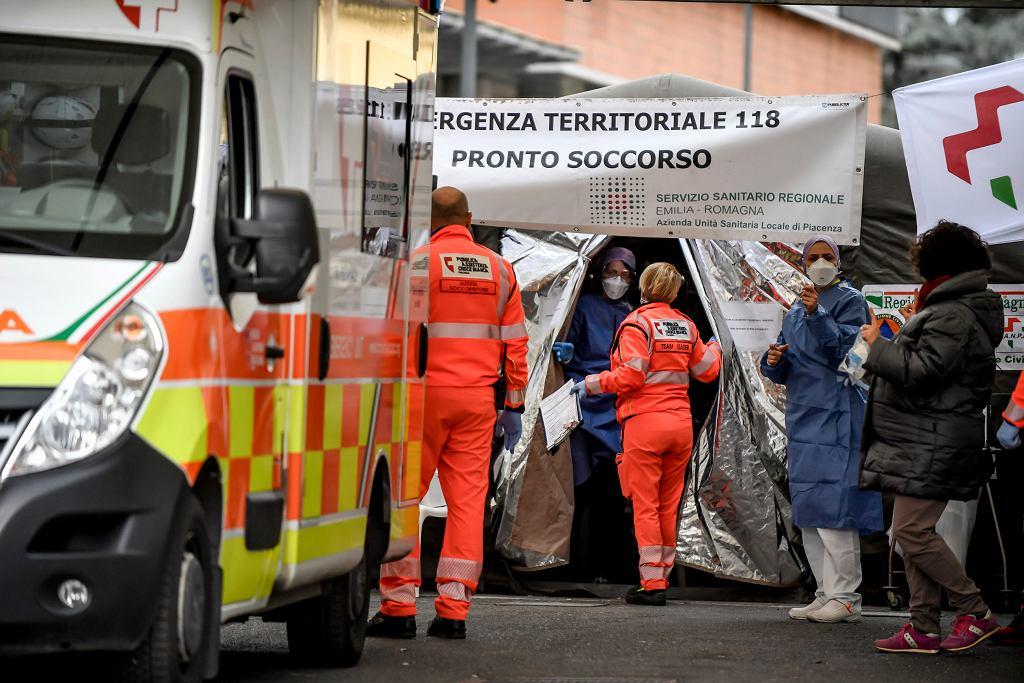 Epidemia koronawirusa. Okolice hotelu Piacenza we Włoszech