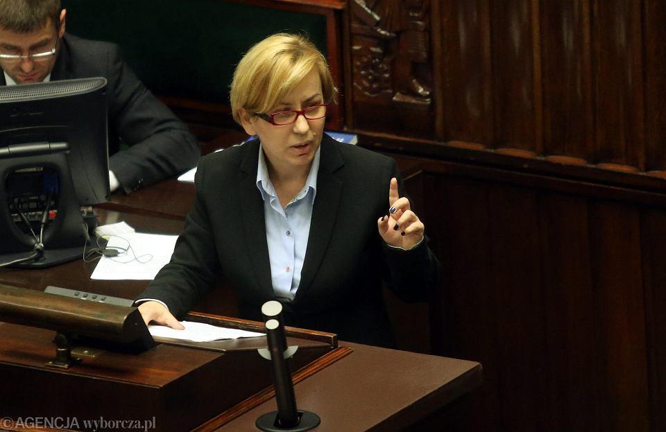 Posłanka Paulina Hennig-Kloska podczas swojej pierwszej kadencji w Sejmie.