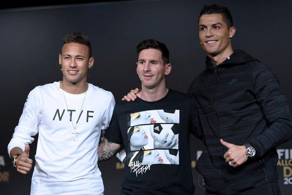Od lewej: Neymar, Lionel Messi i Ronaldo