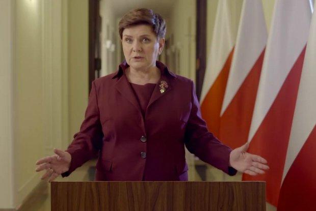 Premier Beata Szydło podczas przemówienia z dnia 12.01.2016