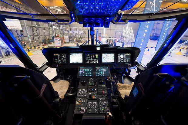 Kokpit brytyjskiego AW101. Choć prace nad nimi zaczęto w latach 80., to po modernizacjach są nowoczesnymi i dopracowanymi maszynami