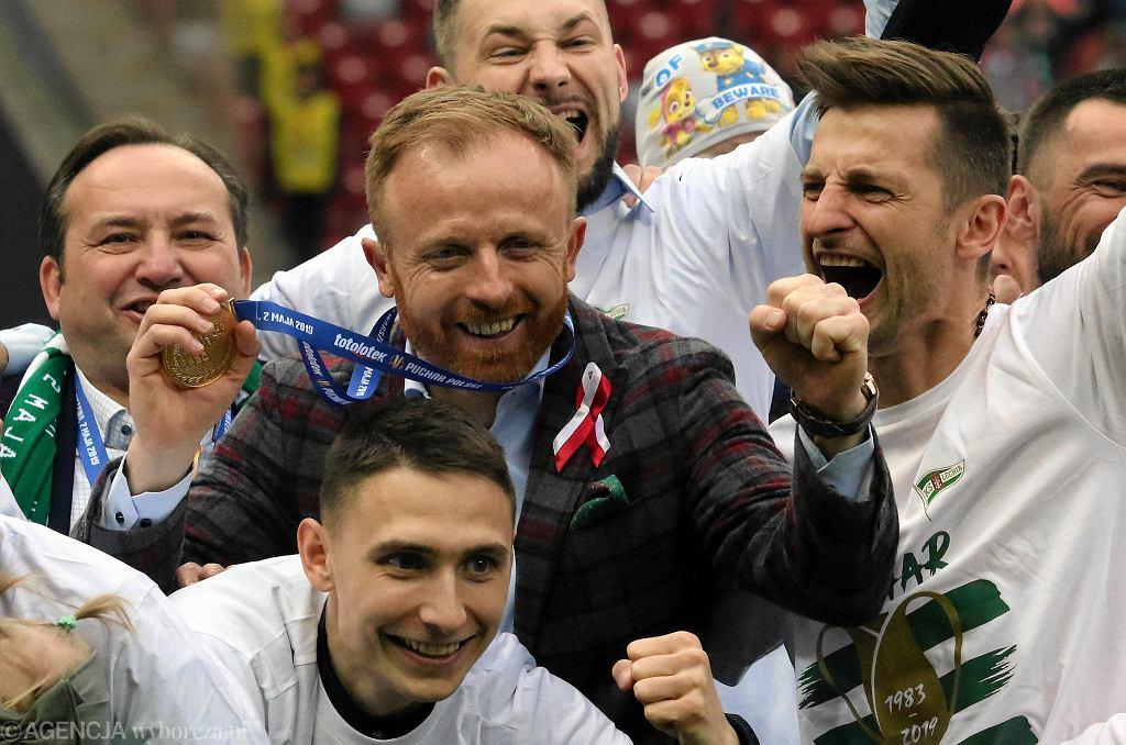 Finał Pucharu Polski. Lechia - Jagiellonia 1:0. Trener Lechii Piotr Stokowiec