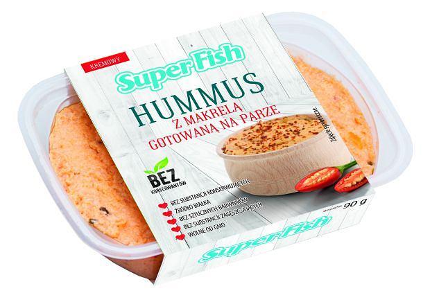 SuperFish - Hummus z makrelą gotowaną na parze