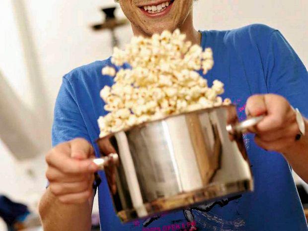Parmezanowy popcorn