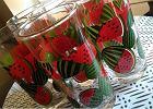 Szklanki z motywem arbuza