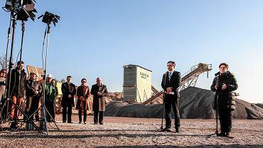 Premier Beata Szydło podczas wizyty w podkieleckiej kopalni Jaźwica.