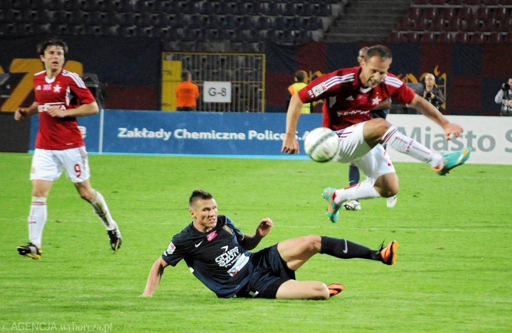 Marcin Robak podczas meczu z Wisłą