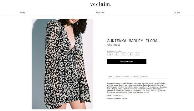 Sukienka Marley Floral marki Veclaim należącej do Jessici Mercedes