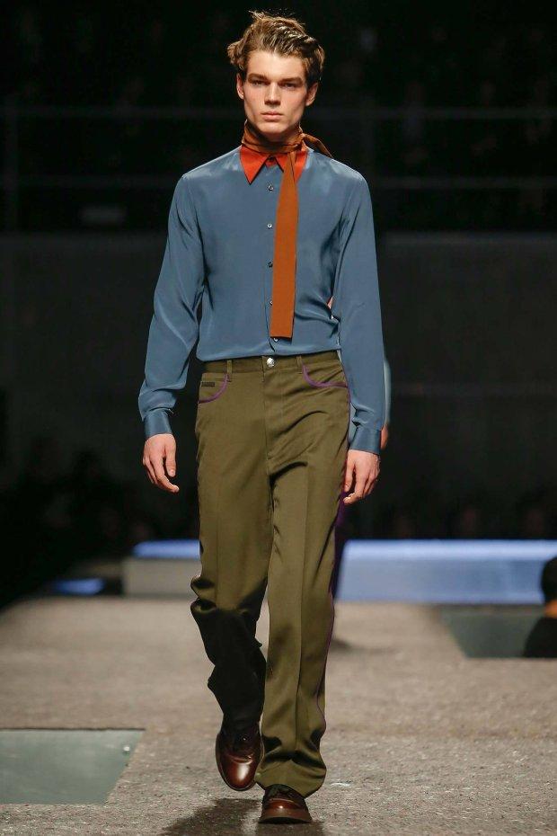 Maks Behr EXCLUSIVE w pokazie Prada FW 2014-15 Milan Fashion Week
