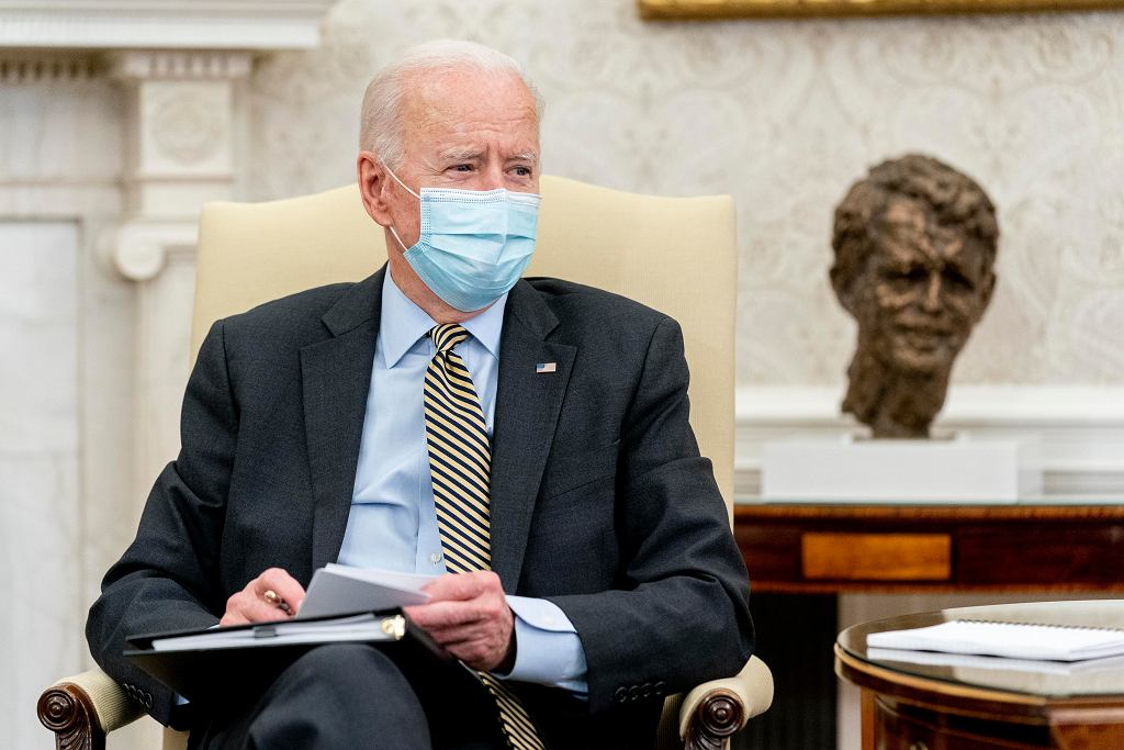 Prezydent USA Joe Biden, 9 kwietnia 2021 r.