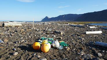 Fragmenty sieci rybackich, boje z tych sieci czy liny okrętowe to widok powszechny na Svalbardzie