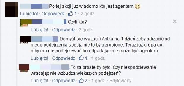 Komentarze na profilu Agent - Gwiazdy TVN
