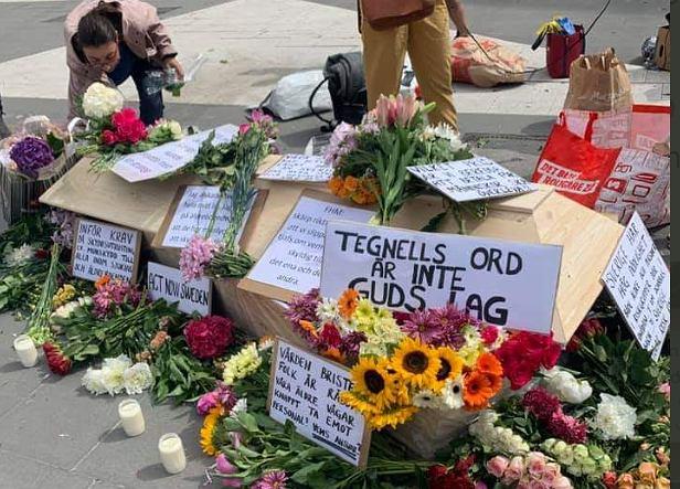 Protest w Sztokholmie
