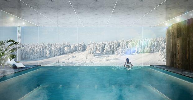 Wizualizacja basenu w inwestycji aparthotel Infinity Ski&Spa