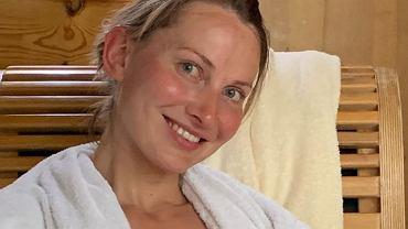 Joanna Moro z córką w saunie