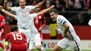 Robert Lewandowski i Kamil Wilczek. Polska wygrała z Armenią 2:1. Drugą bramkę biało-czerwoni zdobyli dopiero w 95. minucie.
