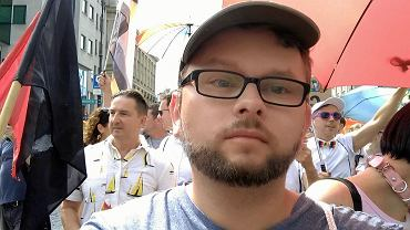 Jakub Gawron, jeden z uczestników Marszu Równości w Białymstoku