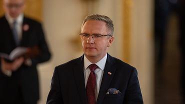 Krzysztof Szczerski podczas uroczystości przyznania Orderu Orła Białego. Warszawa, 3 maja 2019