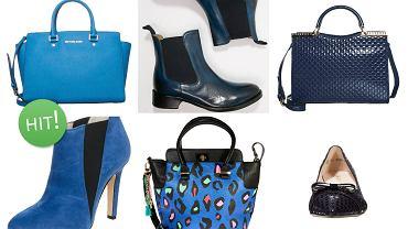 granatowe buty i torebki