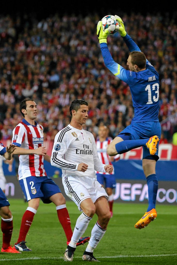 Atletico - Real. Cristiano Ronaldo i Jan Oblak