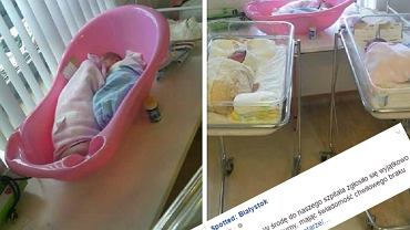 Noworodki zamiast w łóżeczku śpią w wanience