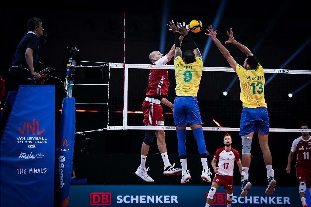 Bartosz Kurek podczas meczu Polska - Brazylia