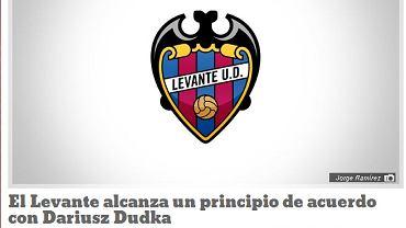 Informacja o wstępnym porozumieniu Dariusza Dudki i Levante na stronie hiszpańskiego klubu