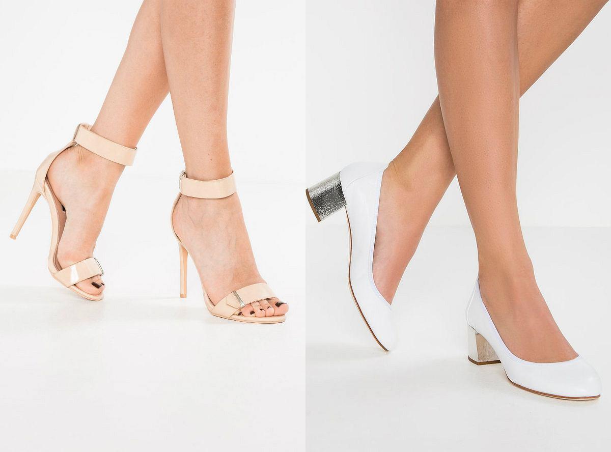 buty damskie na grubym obcasie zollando