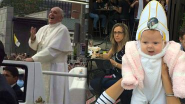 Papież Franciszek i mała Quinn