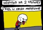 Miniony weekend spędzony przez Polaków na dwa sposoby. Świetna grafika autorstwa Andrzej Rysuje