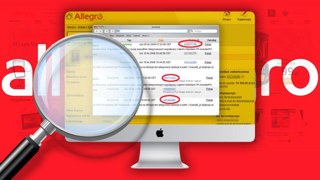 Allegro może być kopalnią wiedzy o wybranej osobie