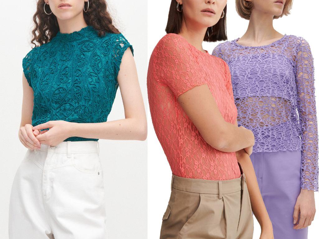 Koronkowe bluzki kolory