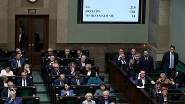 Głosowanie nad całością projektu ustawy o Sądzie Najwyższym, 21 listopada 2018.