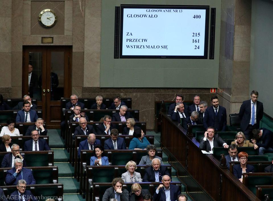 Głosowanie nad całością projektu ustawy o Sądzie Najwyższym, 21 listopada 2018 r.