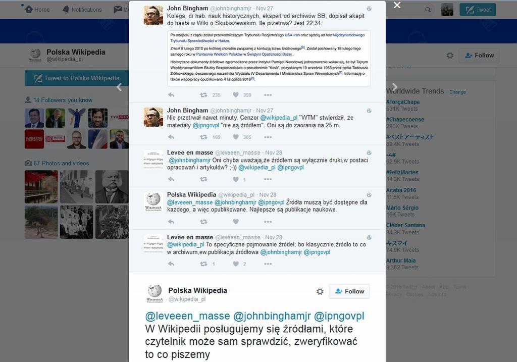 Fragment dyskusji na Twitterze (fot. Gazeta.pl)