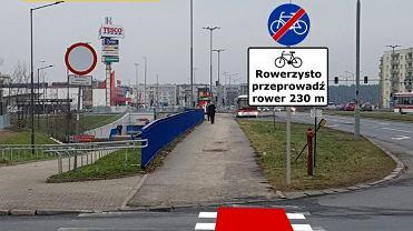 Stowarzyszenie obawia się, że rower będzie trzeba przeprowadzić przez wiadukt