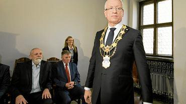 Jacek Jaśkowiak podczas uroczystej sesji nowej rady miasta