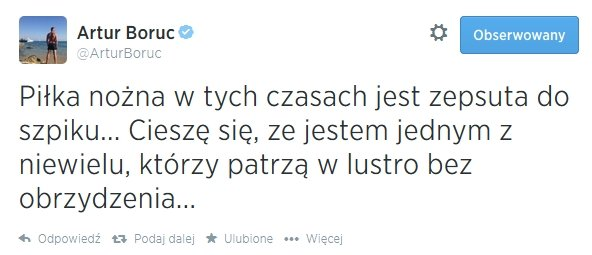 Tweet Artura Boruca