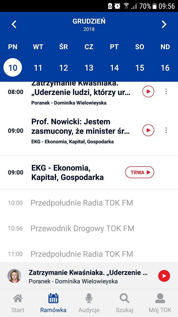Aplikacja TOK FM