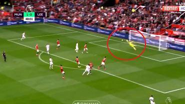 Gol dla Leeds United w meczu z Manchesterem United (1:5)