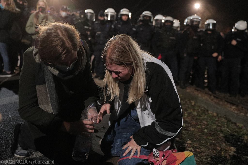 Protest przed domem Kaczyńskiego