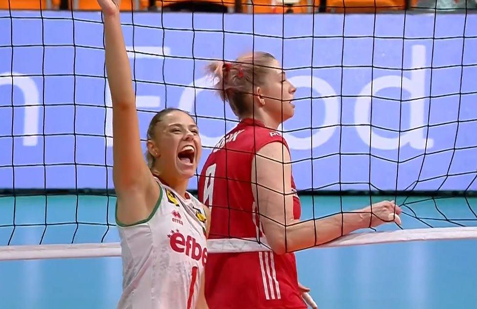 Magdalena Stysiak podczas meczu Polska - Bułgaria na ME